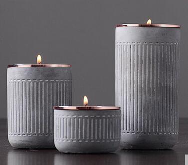 European metal candlestick decoration Nordic wind romantic western candle retro nostalgic ornament
