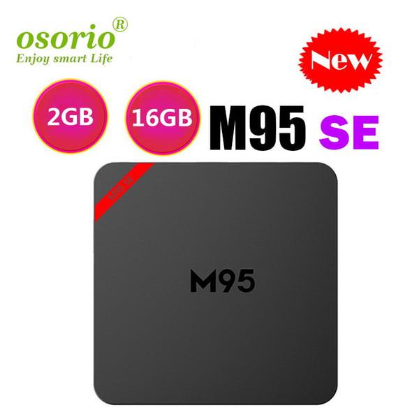1 STÜCKE Ursprüngliches M95 SE 1 GB 8 GB 2 GB 16 GB Android 7.1 TV-Box 2,4G wifi Allwinner H3-Viererkabelkern PK H96 MINI TX3 MINI S905X2 S905W Media Player