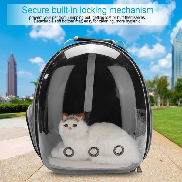 5 Colors Portable Pet Cat Carrier Transparent Capsule Breathable Cat Bag Outdoor Travel Dog Cat Backpack Puppy Carrying Cage D19011201