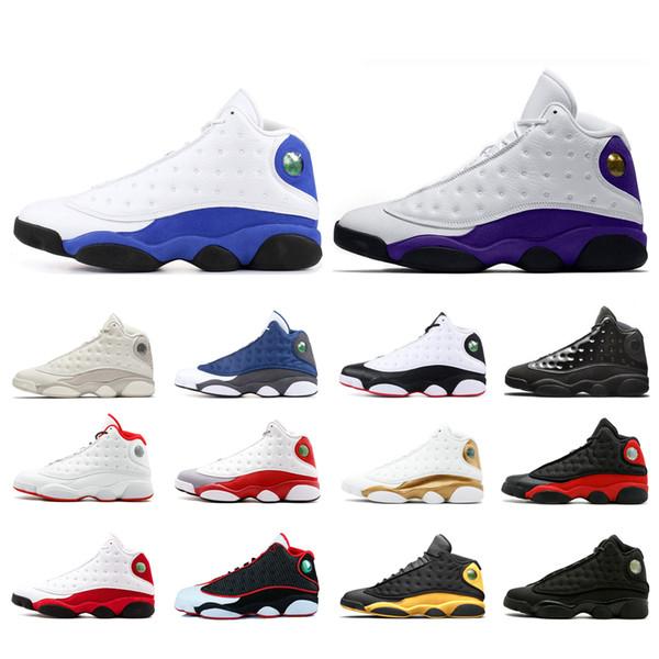 Nike air Jordan retros 13 LuftJordanretroretros13 Basketballschuhe für Männer Court lila Hyper Royal Alternate Black Cat Phantom Trainer Turnschuhe