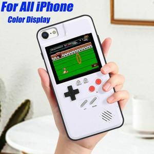 Retro tetris jogo consolas phone case para iphone x 8 7 6 s plus celular tampa traseira shell descompressão