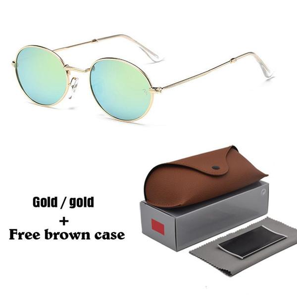 Lunettes de soleil de mode ovales de haute qualité pour hommes femmes Brand Designer Vintage lunettes de soleil lunettes Shades Oculos avec des cas gratuits et boîte