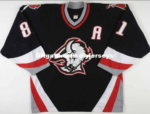 sale retailer 9506e a668d 2019 Real Men Real Full Embroidery #81 2002 03 Miroslav Satan Buffalo  Sabres Game Worn Vintage Hockey Jersey Or Custom Any Name Or Number Jersey  From ...