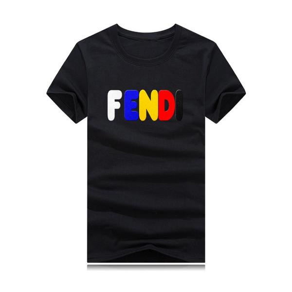 Baumwoll-T-Shirt für Herren 2019 in verschiedenen Farben.Farbmonogrammdruck, Modetrend, Sport- und Freizeitstil