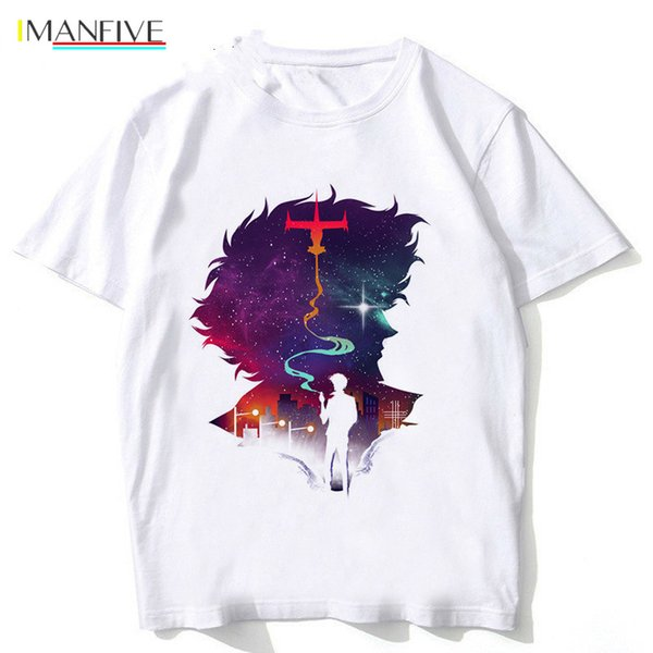 Cowboy Bebop t-Shirt Man 2019 New Arrivals Anime Fashion tshirt Casual White Print t Shirt For Male Top Tees