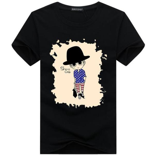 2017 großhandel t kleidung männer t-shirts 3d malerei hip hop clothing herren designer shirts plus größe schwarz weiß