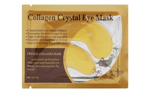 best selling New white Golden Eye Mask Women Crystal Eyelid Patch   Crystal Collagen Eye Mask Gold Mask Dark Circle DHL free ship