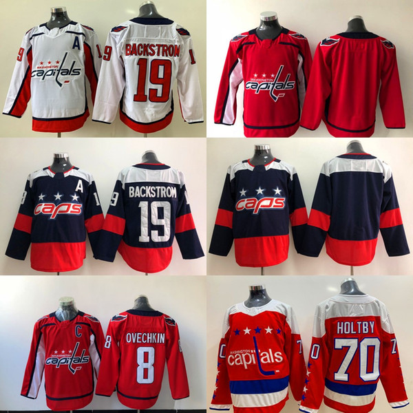 huge selection of b06e9 a8ca7 2019 19 Nicklas Backstrom Jersey Washington Capitals 8 Alex Ovechkin 70  Braden Holtby Blank No Name And Number Red Hockey Jerseys From Huohuo2014,  ...