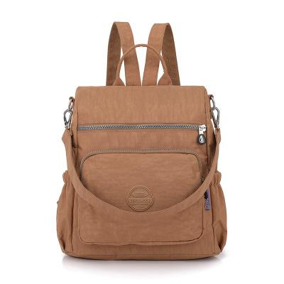 The new Oxford cloth backpack women washed nylon bag light cross-border multifunctional package #023