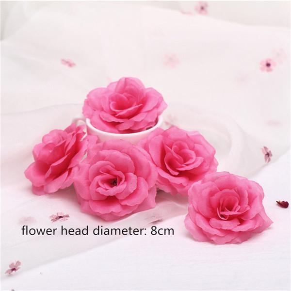 8cm-2 rose flower head