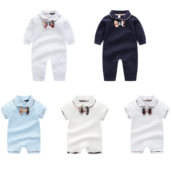 Baby Feste Spitze Strampler 100% Baumwolle Krawatte Overall Hochwertige Kinder Designer Kleidung Junge Herbst Onesies Neugeborenen Body 06