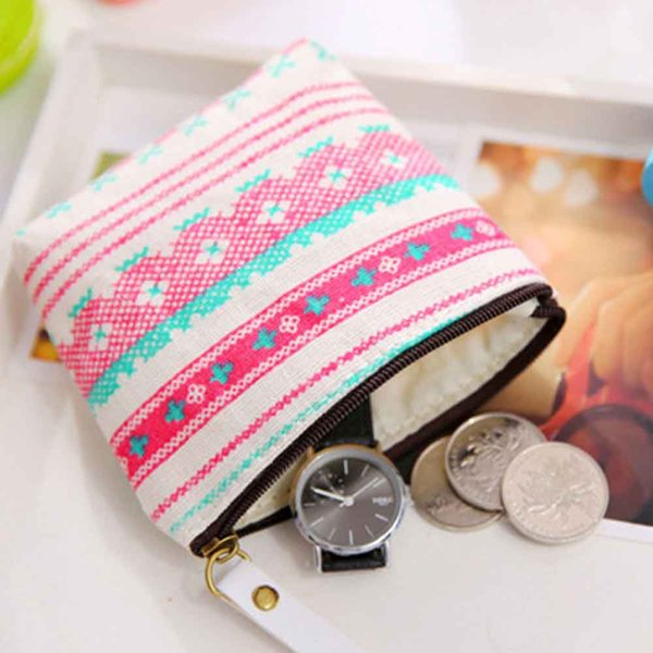 Canvas Zipper Min Bag Cute Portable Key Coin Purse Small Bag Women Girls Coin Purse 2019 Hot Sale Card Holder Wallet#H20
