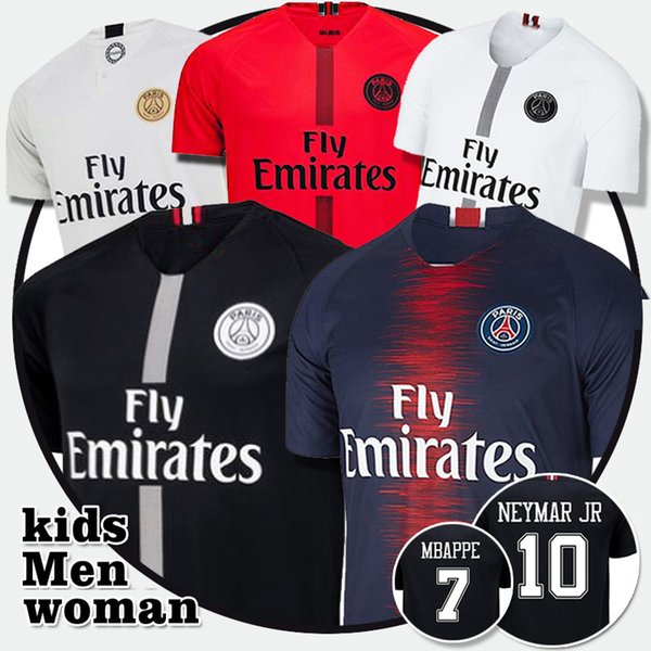 huge discount bc124 e3224 2019 7 Mbappe PSG Soccer Jerseys Men Youth 9 CAVANI DiMaria VERRATTI 18 LO  CELSO 5 MAROUINHOS Top Quality Mbappe Football Jersey From ...
