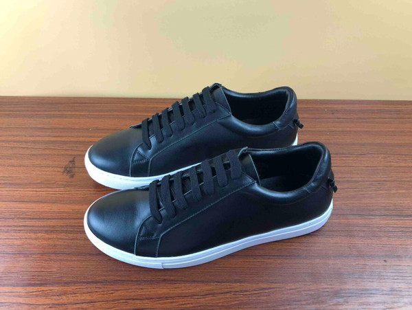 designer shoes with Genuine Leather casual shoes with Ribbon luxury designer sneaker for mens dress shoes men sneakers with box for saleI01