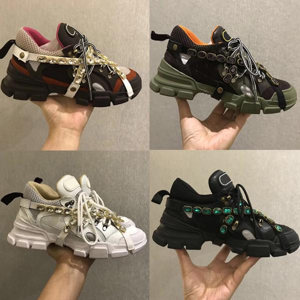 Compre Zapatos De Diseñador Flashtrek Con Zapatillas De Deporte De Cristal Extraíbles Mujeres Hombres Entrenador Zapatos De Escalada De Montaña Verde