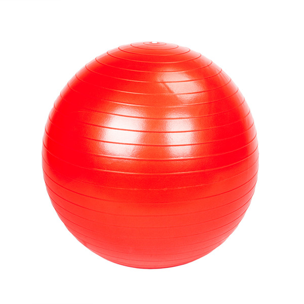 85cm 1600g Gym Household Explosion-proof Thicken Yoga Ball Smooth Surface Red