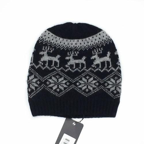 New knitting wool jacquard women's keep warm cap hat Autumn and winter good quality 70% wool 30% rabbit hair free size hat for lady