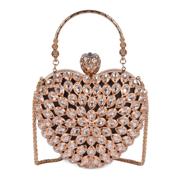 Pink sugao Women Evening Clutch Bag Gorgeous Pearl Crystal Beading Bridal Wedding Party Bags CrossBody Handbags New Style Hand bag