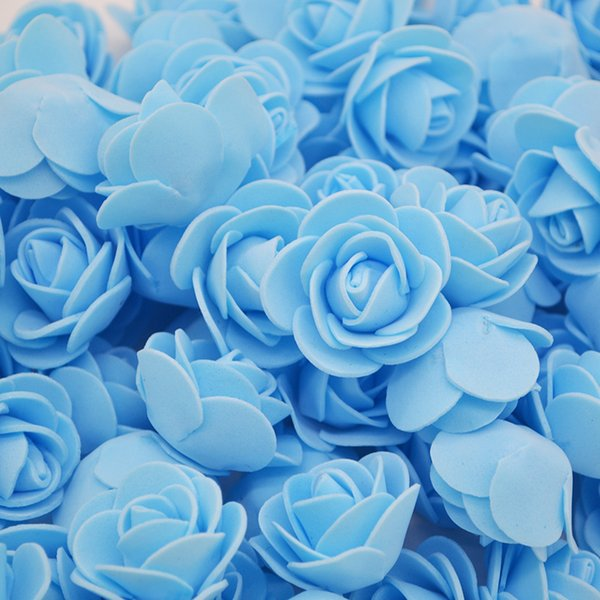 500Pcs Artificial Craft PE Foam Rose Flowers Wedding Party Accessories DIY Home Decor Handmade Flower Head Wreath Supplies
