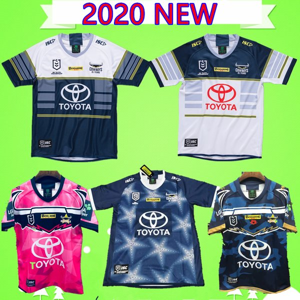S-5XL 2020 Nuovo North Queensland Cowboys rugby Jersey Uomini Difesa indigena maglie Johnathan Thurston 2019 Testimonianza: Australia NRL