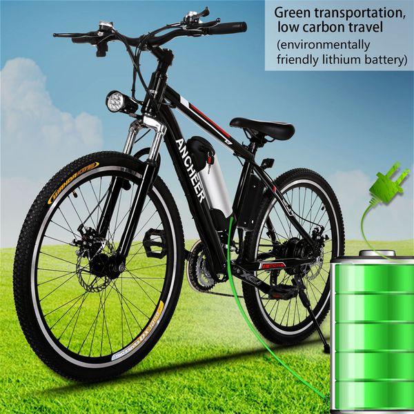 "26 "" 250W Electric Bike Aluminum EBike 21 Speed Mountain Bike City Road Electric Power Bicycle Disc brake Bicicleta"