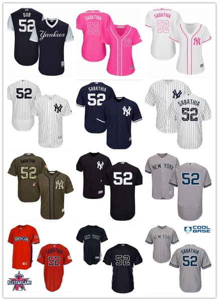 another chance 6ba42 af6be 2018 2018 Top New York Yankees Jerseys #52 C.C. Sabathia Jerseys  Men#WOMEN#YOUTH#Men'S Baseball Jersey Majestic Stitched Professional  Sportswear From ...
