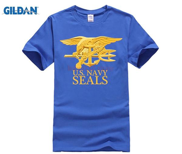 EUA do Exército Da Marinha SEALS Camisas Dos Homens 100% Algodão Plus Size T-shirt Dos Homens Orgulhoso Veterano Camiseta de Manga Curta XS-3XL