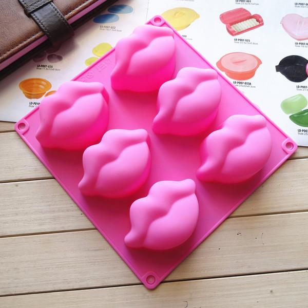 Seksi kırmızı dudaklar 3d silikon fondan çikolatalı kek dekorasyon kalıp sakız şeker jöle kalıp sabun balmumu kalıp bebek duş için düğün parti malzemeleri