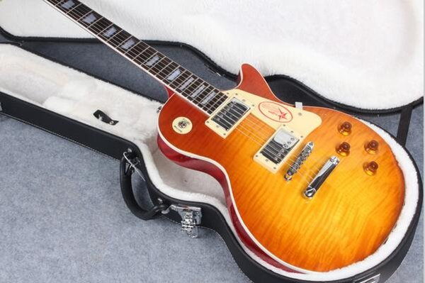 Selling Tiger stripe flame maple custtom shop electric guitar free shipping