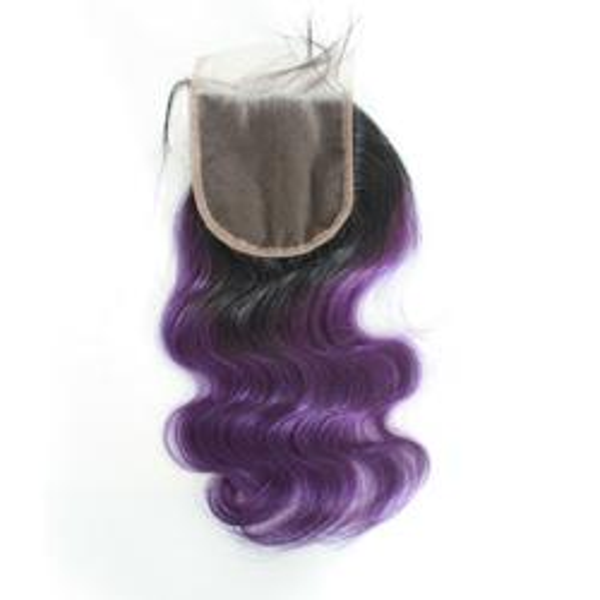 1B/Purple 4*4 lace Closure