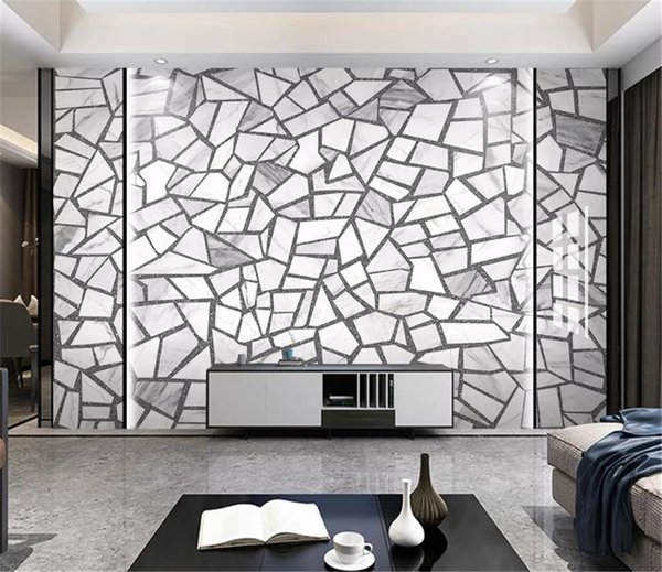 2019 New American Vintage Wallpaper Nordic Simple Cement Brick Ceramic Tile Terrazzo Floor Tiles Wall Decoration Wall Paper Free Wallpaper Desktop