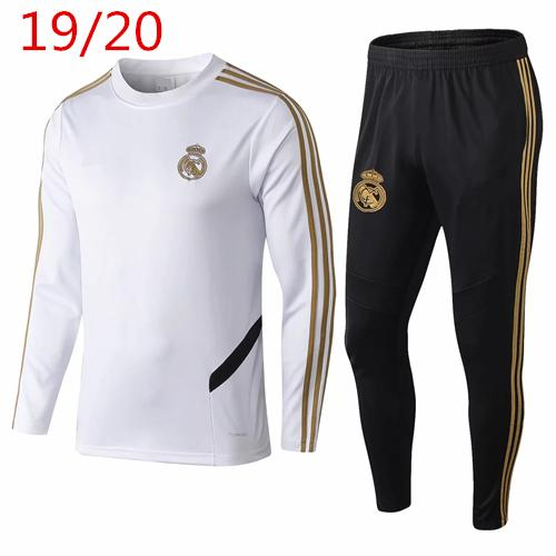 top popular 2018 19 Real Madrid tracksuit men's soccer chandal football tracksuit 2018 19 adult training suit skinny pants Sportswear 2019