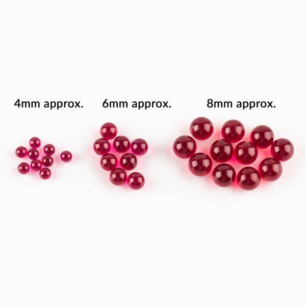 Nuevo 4 mm 6 mm 8 mm Ruby Terp Pearl dab pearl banger beads ruby insert for 25mm 30mm Quartz Banger Nails Glass Bongs