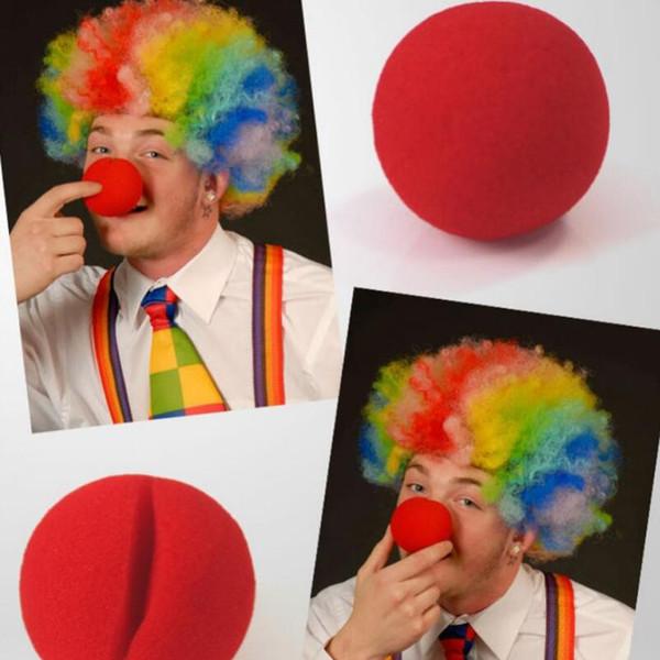 Magic Red Sponge Balls Clip Foam Clown Naso Costume Party Fancy Dress Cosplay Comic Halloween Rifornimenti del partito di Natale LX5259