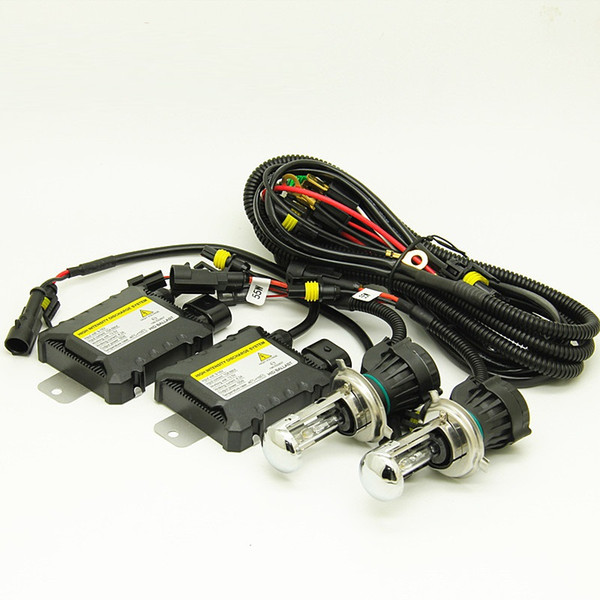 DC 12V 55W bi xenon H4 55w bixenon hid kit H4-3 high/low hid Kit 4300k 6000k 8000k for Car Headlights