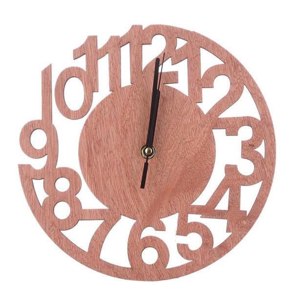 Round Room Office Tree Wood Wall Clock Living Bedroom Wall Clock Modern Design Decor 23cm Not Included 1inch Battery Home Zegar