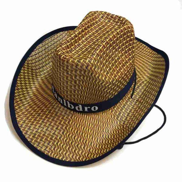 2019 New Fashion Casual Summer Straw Hat With Big Brim Western Cowboy Cap Men'S Beach Cap Bamboo Hat Sun Hat