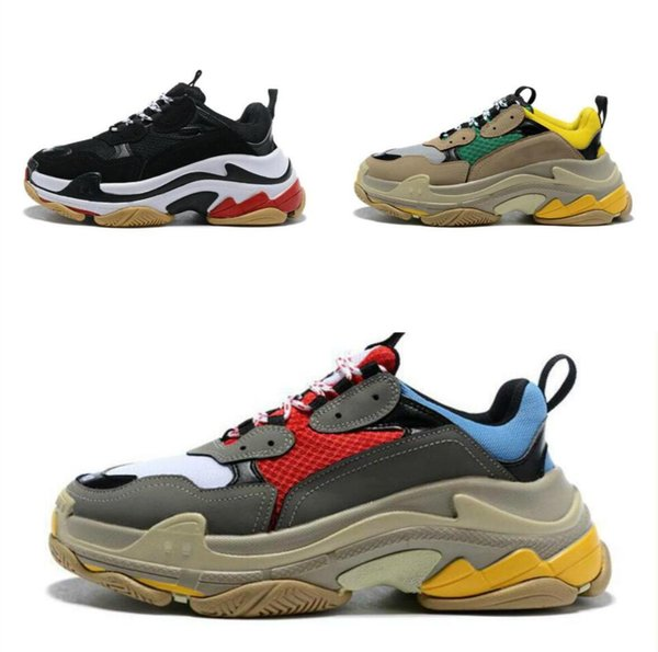 2019 100% TOP Fashion Casual Shoes Dad ShoesTriple S Sneaker Designers Thick Sole Old Fashioned Grandpa Sneakers Trainer Outdoor Shoes For Men Sports