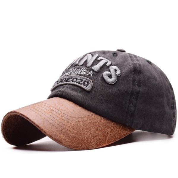 2019 fashion new washed embroidery baseball cap CIANTS² fashion European and American style men and women visor baseball cap