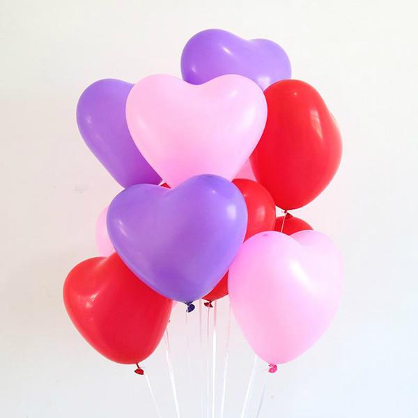 2.2 г розовый белый красный в форме сердца латексные шары день рождения свадебные украшения Любовь День Святого Валентина подарки поставки