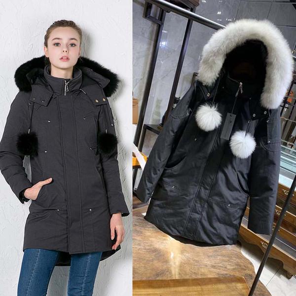 top popular 2019 Women Winter MOOSE Down Jacket Warm Outdoor Down Jacket Woman High Quality Winter Cold Outerwear Designer Coat Doudoune 2019