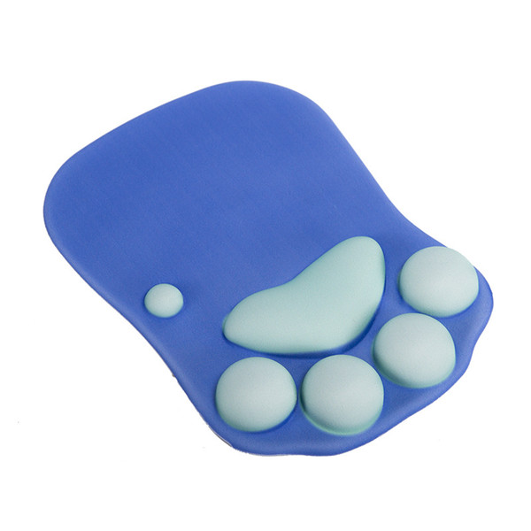 Soft Silicone Mouse Pad High Quality Wrist Rests Optical Trackball PC Thicken Mouse Mat 3D Cat Paw Shape Comfort Mouse Pad Mat DHL