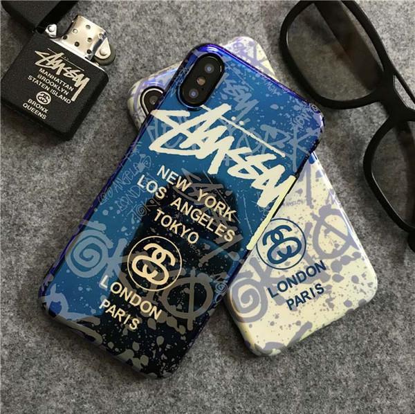 Luxury Phone Case for IPhone X XS XR XSMAX 6/6S 6P/6SP 7/8 7Plus/8Plus Cool Blu Ray Designer Case with Brand Letters Back Cover Wholesale