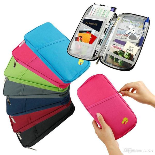 Travel Passport Holder ID Card Cash Wallet Purse Holder Case Document Bag document package travel wallet Storage Bags 100pcs