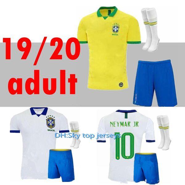 2019 2020 Brasil futbol formaları YETIŞKIN Brezilya Forması İSA KUTUSU FIRMINO MARCELO futbol takımı gömlek camisa erkek Futbol Gömlek