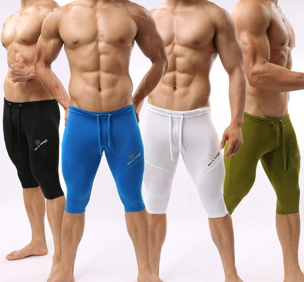 2019 hOT A Braveperson Sexy Soft Trunk Man's Yoga Pants Fitness Sleepwear Skiny Tights for Man Sports Underwear Gym Bodywear Man Swimwe