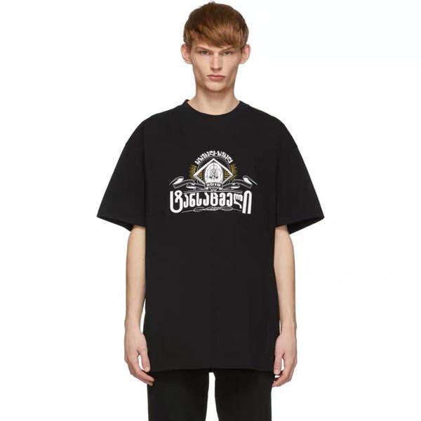 Vetements 19ss secret socie TY Printed Tee Luxury Vintage Solid Color Short Sleeves Men Women Casual Hip Hop Street Skateboard T-shirt