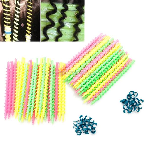 En plastique Style Stylo De Salon De Coiffure Coiffure Spirale Cheveux Perm Rod Petit # H027 #