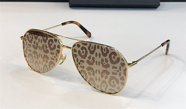 Gold Leopard Print mirror lens