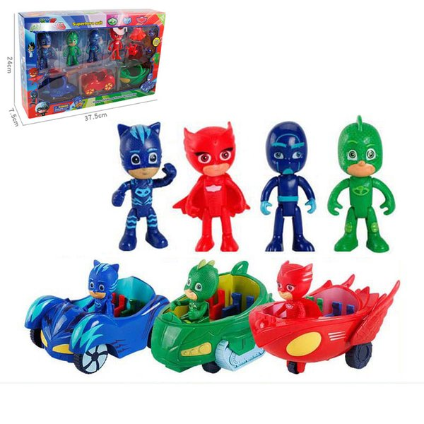 Cartoon Superhero Toys Set Masked Superman Models Kits Gift for Kids Childrens'day with Retail Package Hotsale